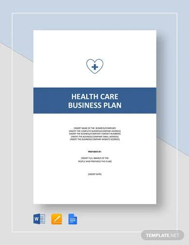 health care social care business plan template