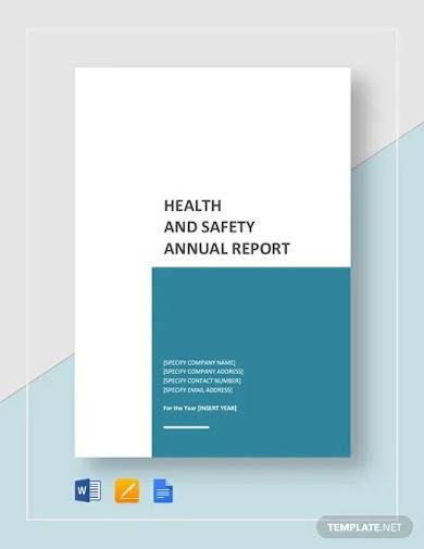 health and safety annual report template