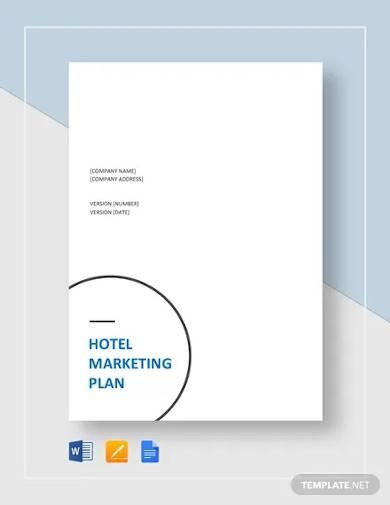 hotel marketing plan template