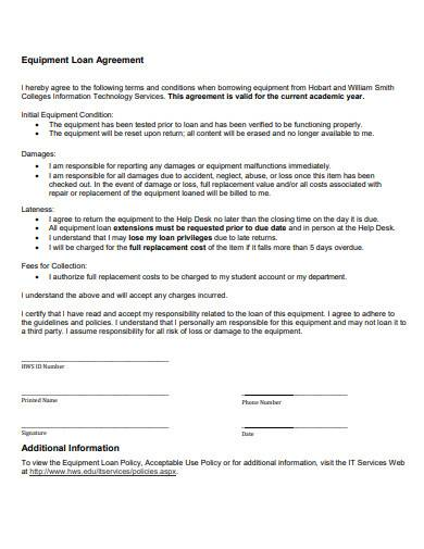 it equipment loan agreement