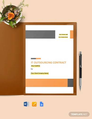it outsourcing contract template