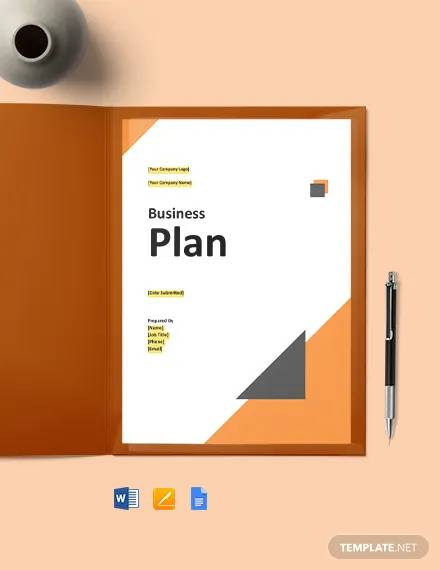 it support business plan template