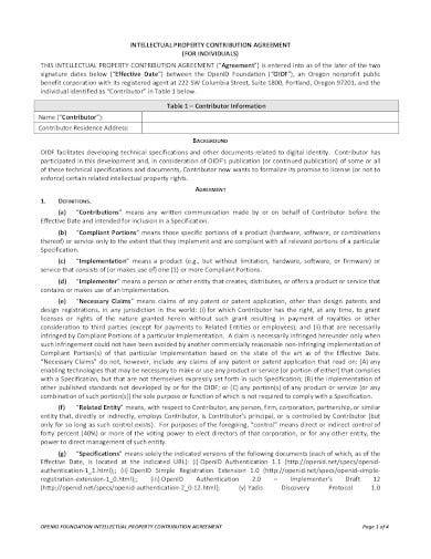 intellectual property contribution agreement