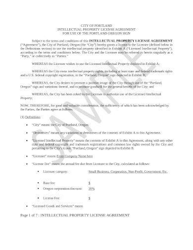 intellectual property license agreement