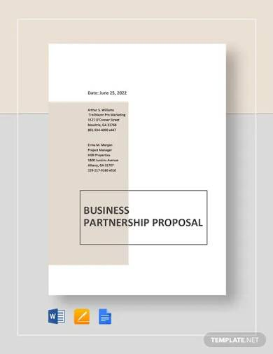 joint venture partnership proposal template