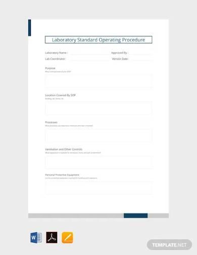 laboratory standard operating procedure template