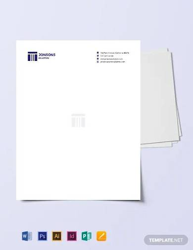 law firm letterhead template