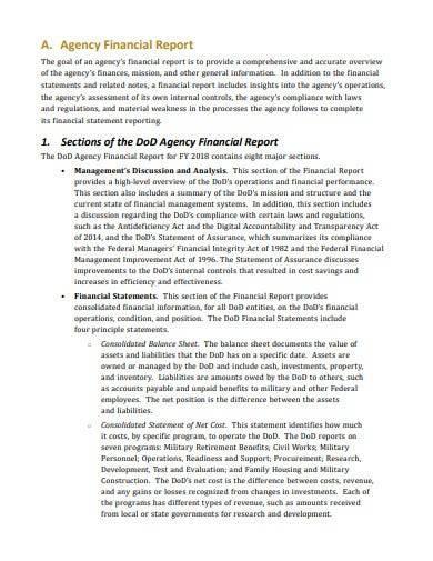 logistics audit financial report