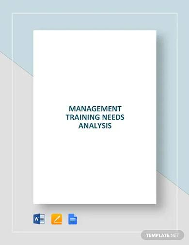 management training needs analysis template