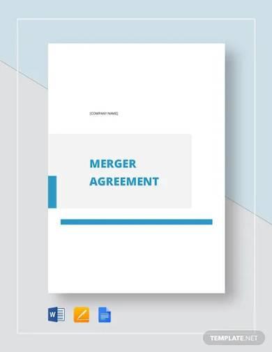 merger agreement template