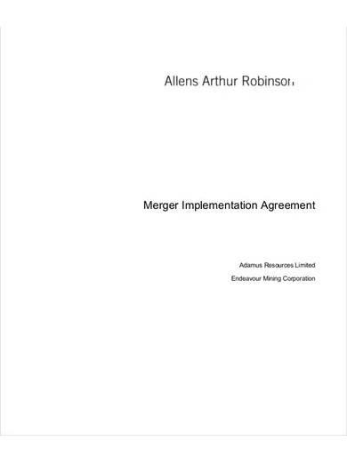 merger implementation agreement