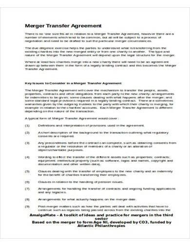 merger transfer agreement template