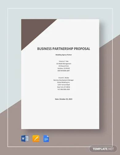 model partnership proposal template