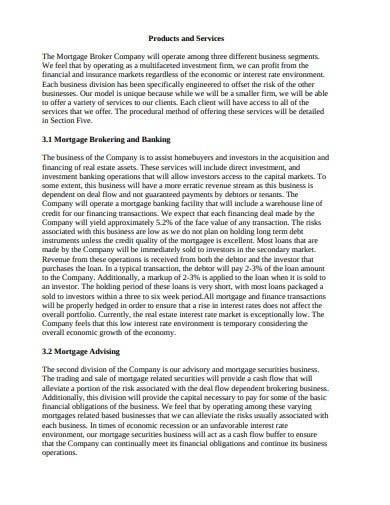 mortgage brooking business plan template