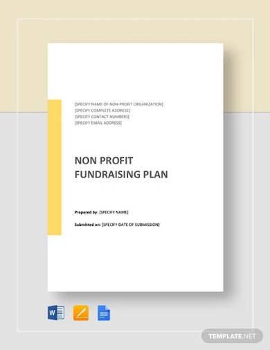 non profit fundraising plan template1