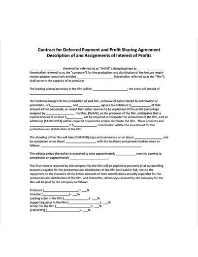 payment profit sharing agreement