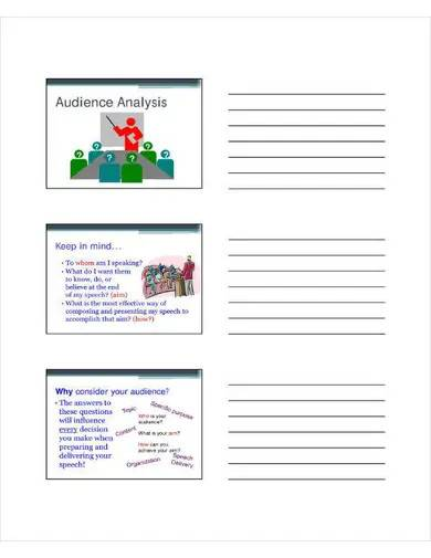 printable audience analysis template