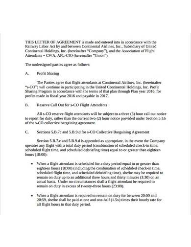 printable profit sharing agreement template
