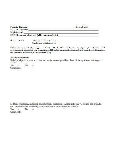 printable school visit report