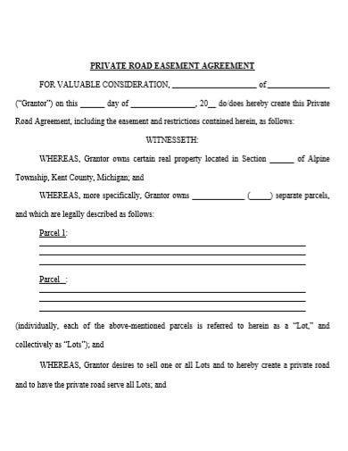 private road easement agreement