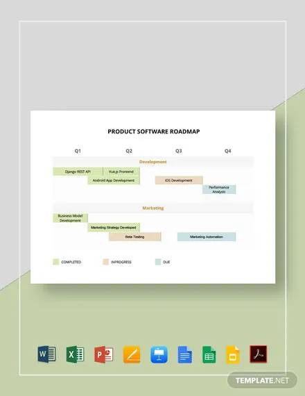 product software roadmap template
