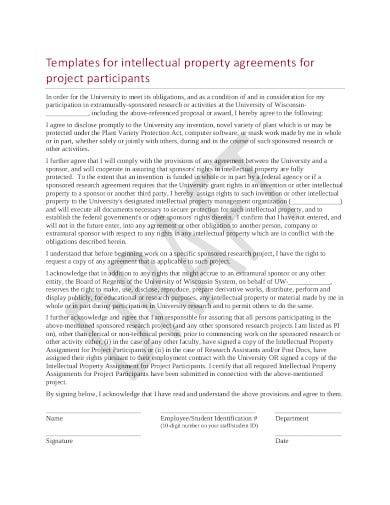 project intellectual property agreement