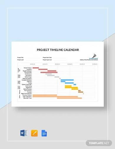 project timeline calendar template1