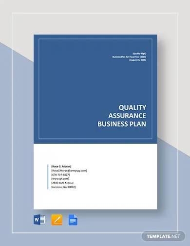 quality assurance business plan template