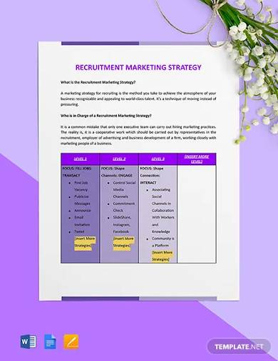 recruitment marketing strategy template