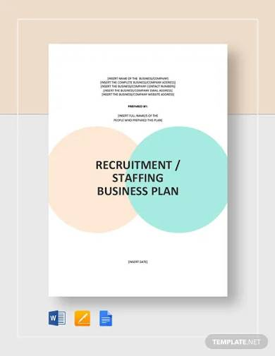 recruitment staffing agency business plan