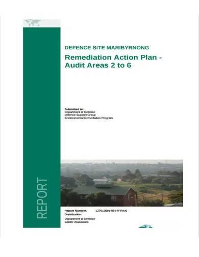 remediation action plan