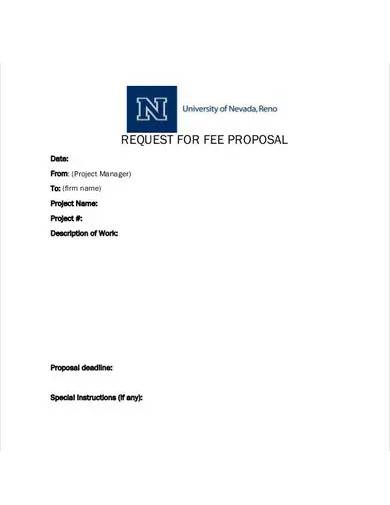 request for fee proposal template