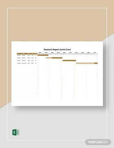 research report gantt chart template