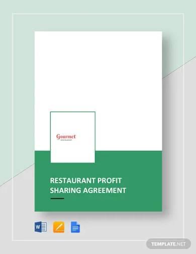 restaurant profit sharing agreement template