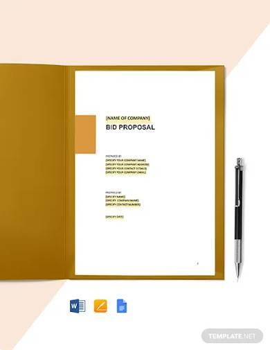 seo bid proposal template