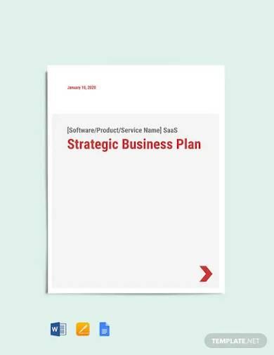 saas marketing strategy template