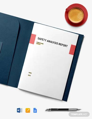 safety analysis report template