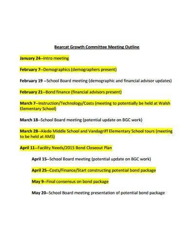 sample committee meeting outline