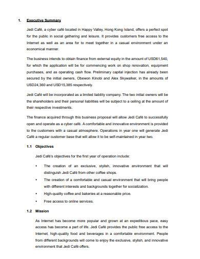 sample cyber cafe business plan