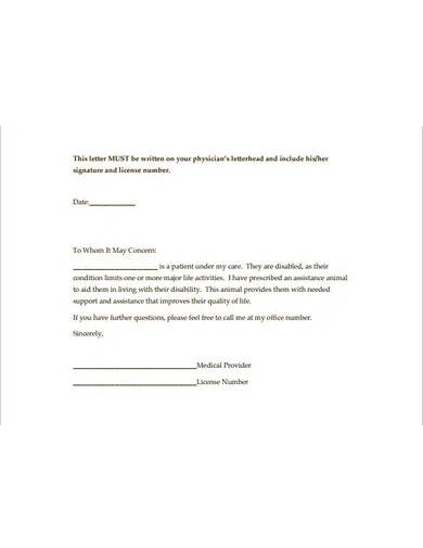 sample doctor letter template