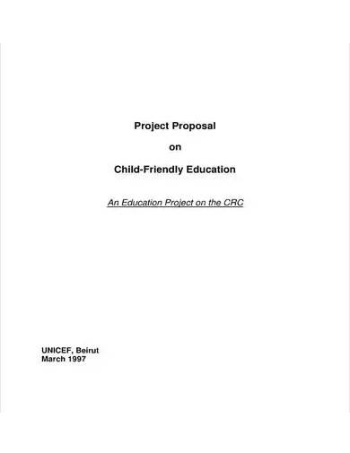 sample education project proposal