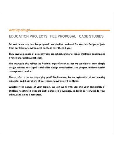sample fee proposal for project