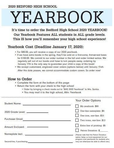 sample high school yearbook