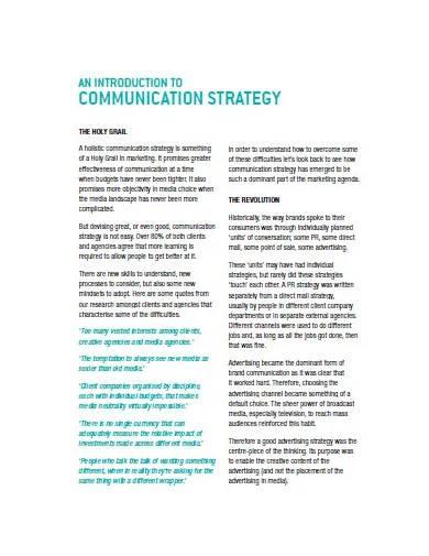 sample marketing communication plan