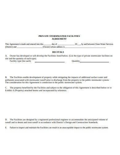 sample private maintenance agreement