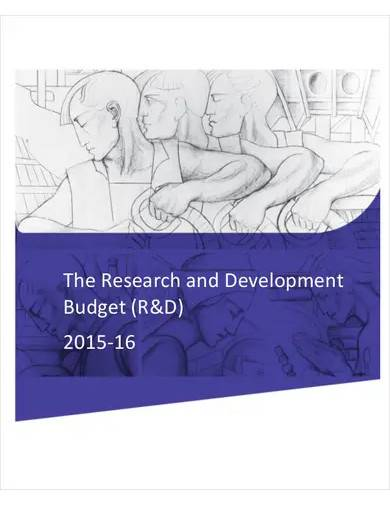 sample research development budget