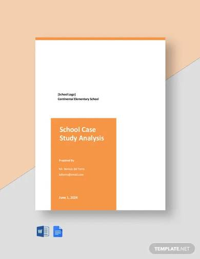 school case study analysis template