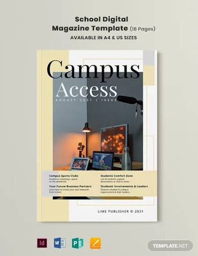 school digital magazine template