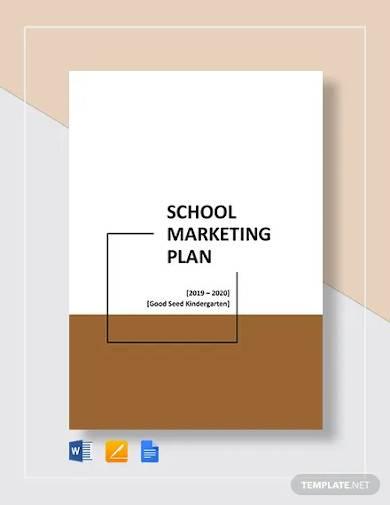 school marketing plan template