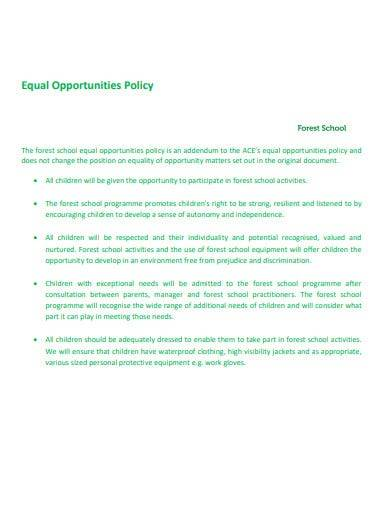 school opportunities equality policy